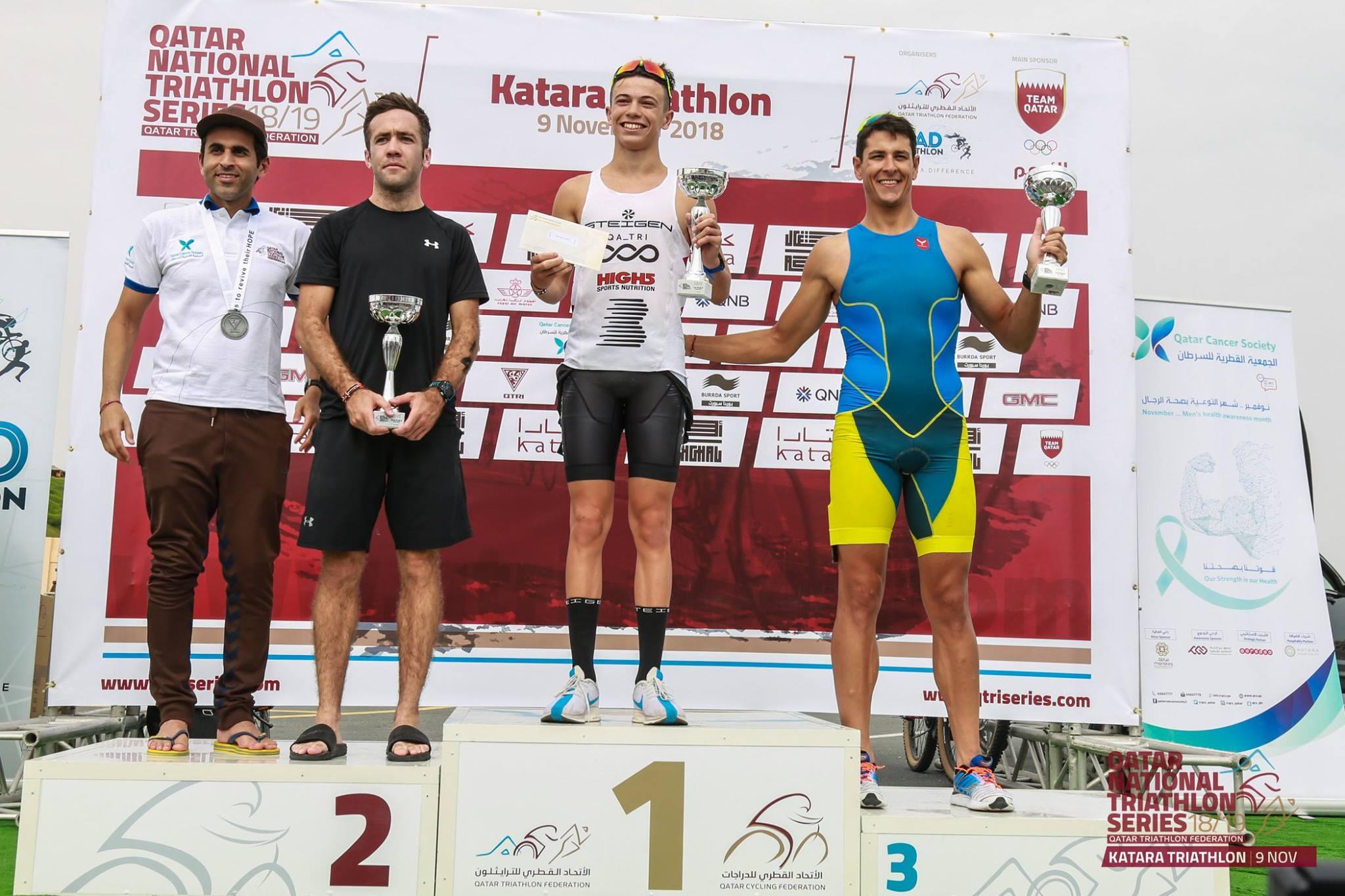 Ethan Bennett conquers inaugural Katara Triathlon